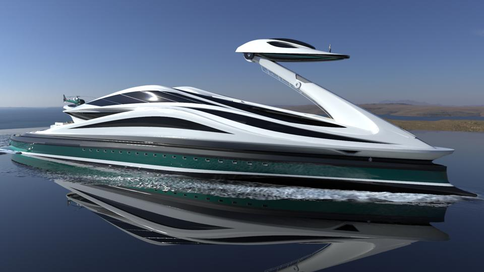 Is the swan-shaped yacht the craziest megayacht model for 2020? 1